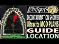 DECONTAMINATION Shower ARCH PLANS GUIDE | Fallout 76 | How to Get Ultracite PLANS | Weekly Nuke Code