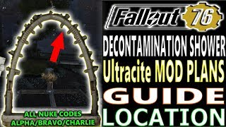 DECONTAMINATION Shower ARCH PLANS GUIDE   Fallout 76   How to Get Ultracite PLANS   Weekly Nuke Code