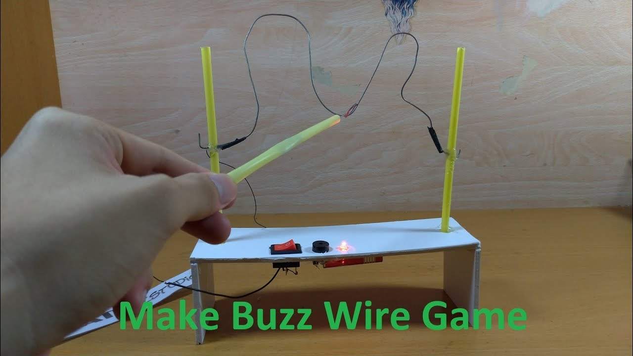 Make a Awesome Buzz Wire Game for kids - Smart Toy for easy at home ...