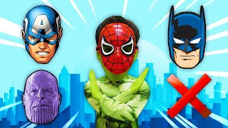 슈퍼히어로 스파이더맨 헐크 캡틴아메리카 배트맨 타노스 얼굴 맞추기 Wrong Superheros Puzzle