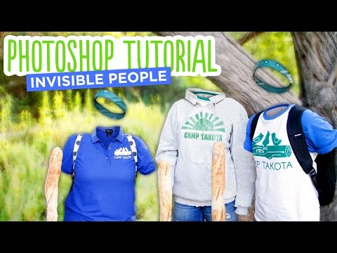 How to Make Invisible People & Ghost People - Photoshop Tutorial by @karenkavett