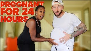TRAY PREGNANT FOR 24 HOURS CHALLENGE