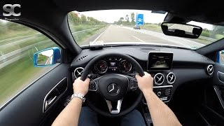 Mercedes-Benz A 200 (2016) on German Autobahn - POV Top Speed Drive