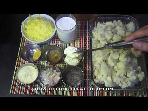 Cauliflower Cheese Recipe - No Flour Cauliflower Cheese - Super Fast