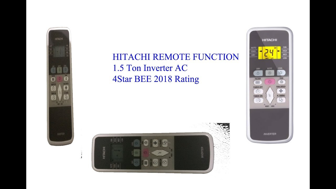Hitachi AC Remote Function in Hindi