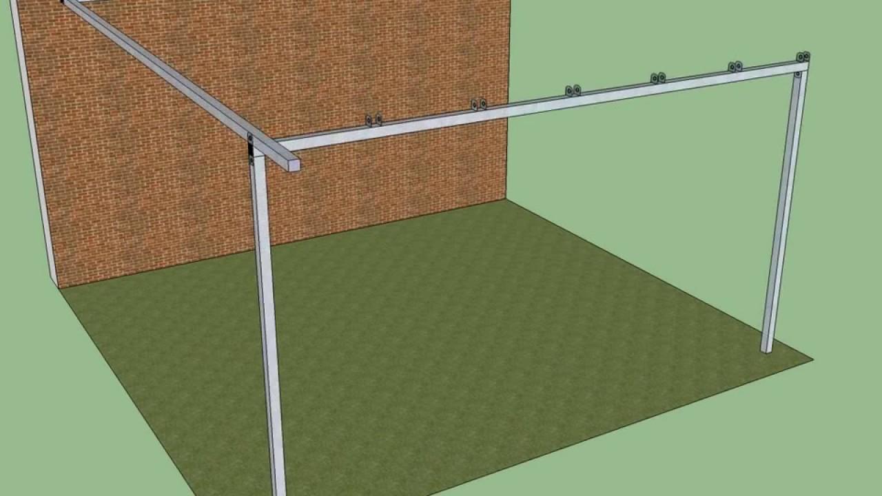 Fase montaggio pergola in ferro addossata youtube for Costruire un gazebo in ferro