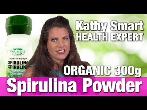 Organika Spirulina powder organic 300g with Nutrition Expert Kathy Smart