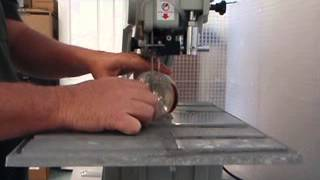Diamond Laser 5000 Portable Wet Band Saw - Bottle Cutting