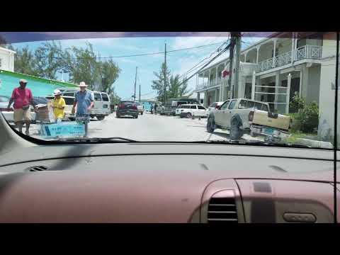 Driving around George Town Exuma, The Bahamas