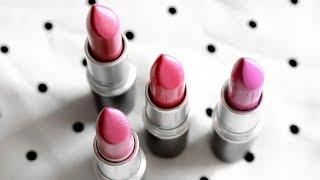 MAC Lipstick Swatches: Up the Amp, Craving, Speak Louder, Plumful on Indian Skintones/Deep Skintones