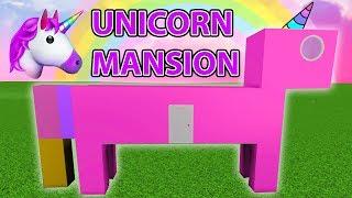 I Built A UNICORN MANSION In Bloxburg! (Roblox)