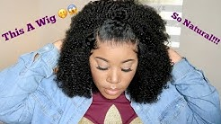 This Looks So Natural 😱   Affordable Afro Kinky Curly Lace Front Wig   Myquality Hair