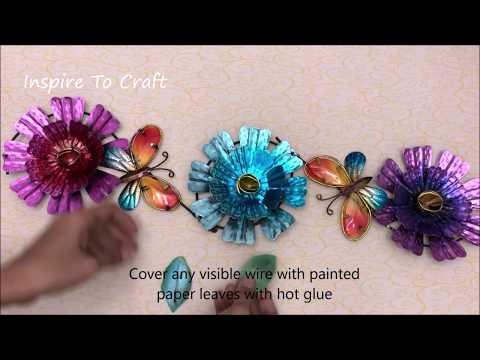 DIY Flower Wall Decor 1