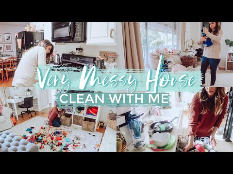 ALL DAY CLEAN WITH ME 2019  | Very Messy House |Teeth Whitening for Busy Moms w/ HiSmile New Formula