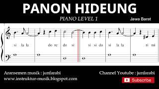 not balok panon hideung - piano level 1 - lagu daerah jawa barat / sunda- doremi