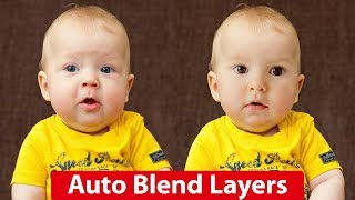 How to Use Auto Blend Layers in Photoshop in Hindi/Urdu | How to Swap Faces