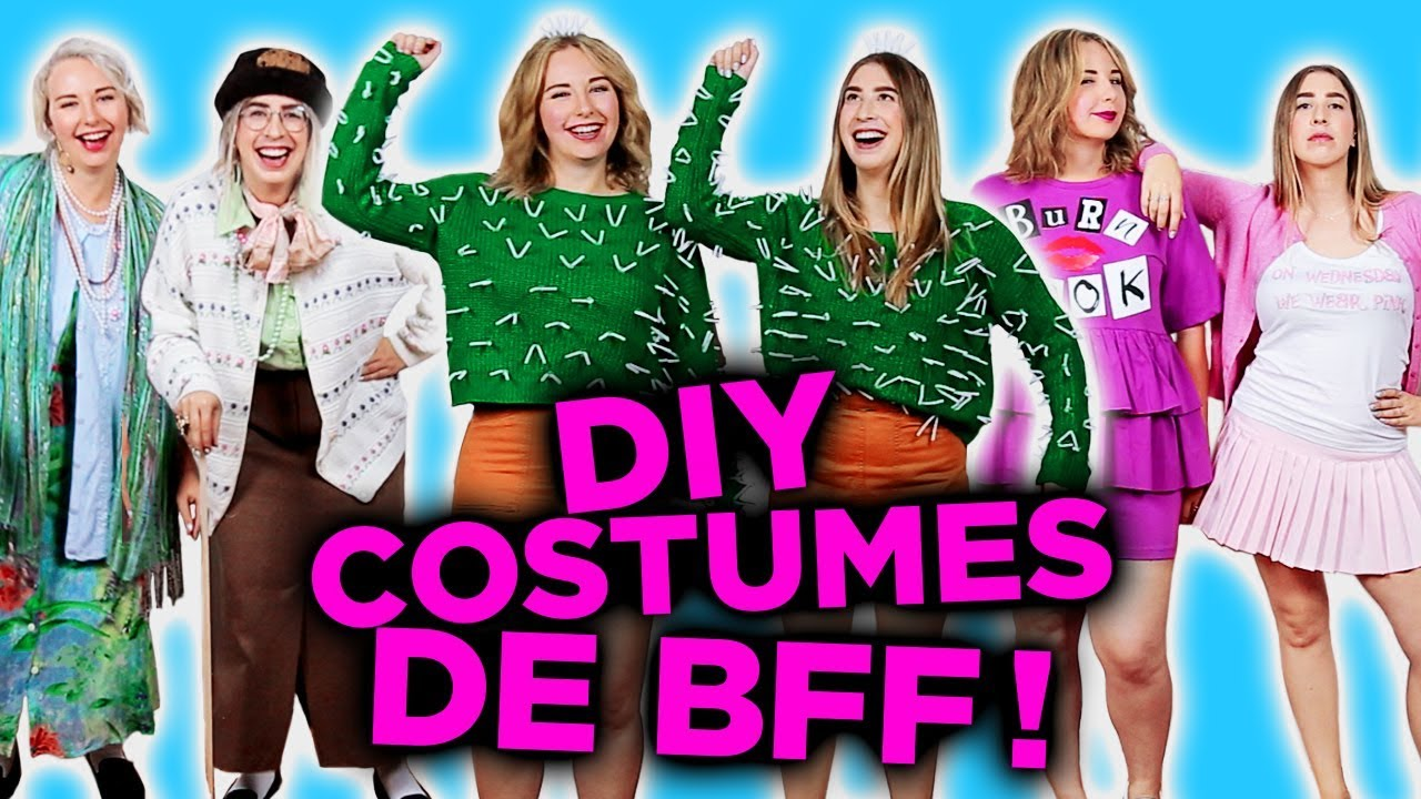 diy costumes d 39 halloween faciles de bff 2e peau youtube. Black Bedroom Furniture Sets. Home Design Ideas