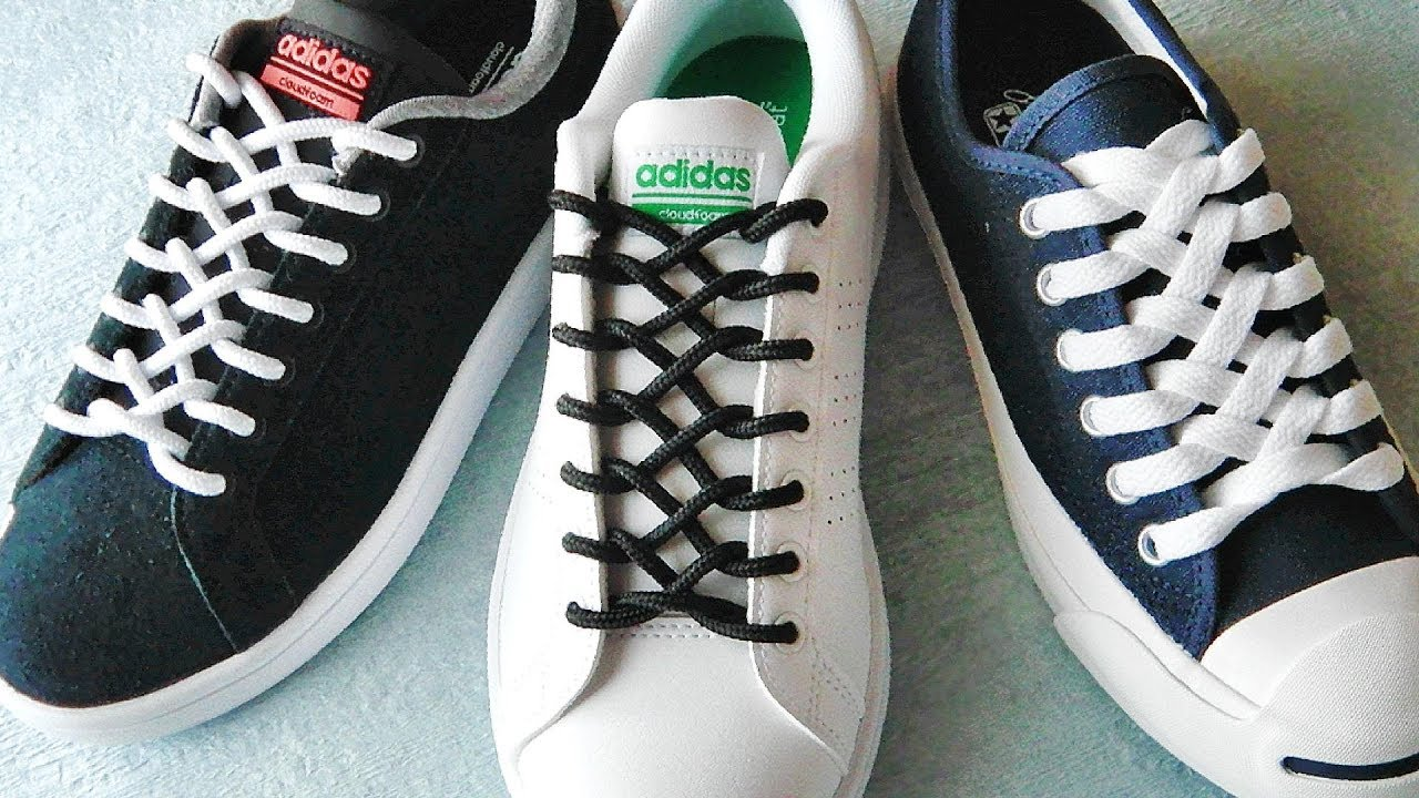a0bba7099637bd 〔靴紐の結び方〕ファスナーのような編み目がカッコイイ靴ひもの通し方 ジッパー結び how to tie shoelaces 〔生活に役立つ!〕