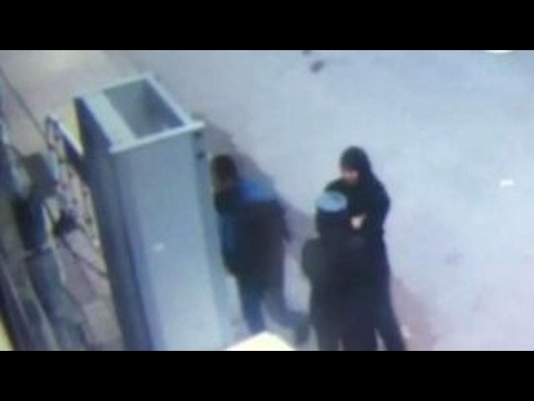 Surveillance footage moments before Egypt church bombing