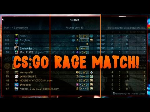 CS:GO Rage Hacking Match #2, Da Cheating Squad