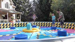 Wipeout Eliminator Inflatable Game Rental in Chicago, Illinois