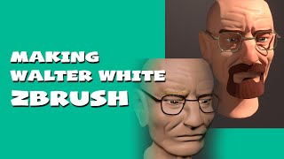 Timelapse making Walter White in zbrush