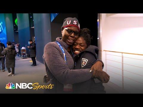 Team USA's Maame Biney meets SNL's Leslie Jones