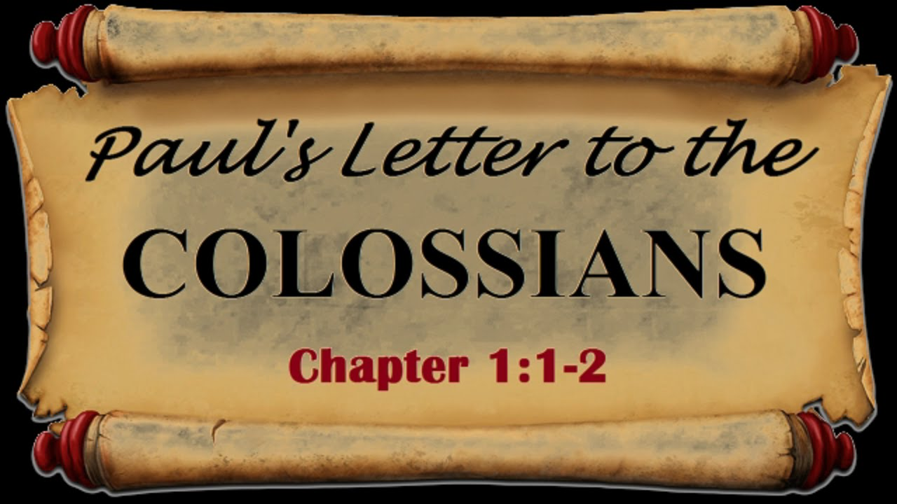 INTRODUCTION TO THE BOOK OF COLOSSIANS - YouTube