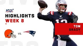 Tom Brady Throws 2 TDs vs. Browns | NFL 2019 Highlights