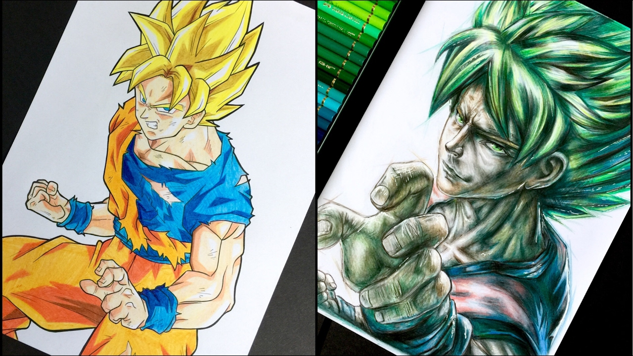 Goku Super Saiyan 21 Vs 210 Colour Pencils How