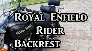 Royal Enfield Rider Backrest -  Part 6