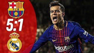Эл классико Ла Лига 10 й тура Чемпионата Испания Барселона 5 1 Реал Мадрид 28 10 2018