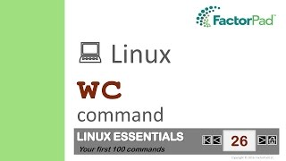 Linux wc command summary with examples