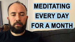 I Meditated Everyday for a Month. Here's What Happened.