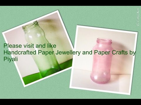 diy stained glass home decor using used bottles / jars /glass