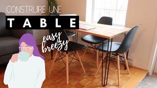 CONSTRUIRE UNE TABLE - DIY BalysHomeDesign
