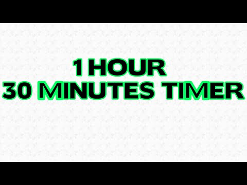 1.5 hour Countdown 90 minutes Timer Alarm Clock