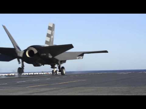 F-35C Joint Strike Fighter's First Catapult Assisted Launch From A Carrier