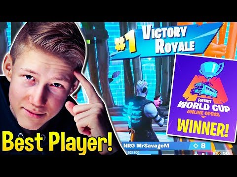 Everyone in DISBELIEF watching MrSavageM QUALIFY for WORLD CUP! - Fortnite Moments