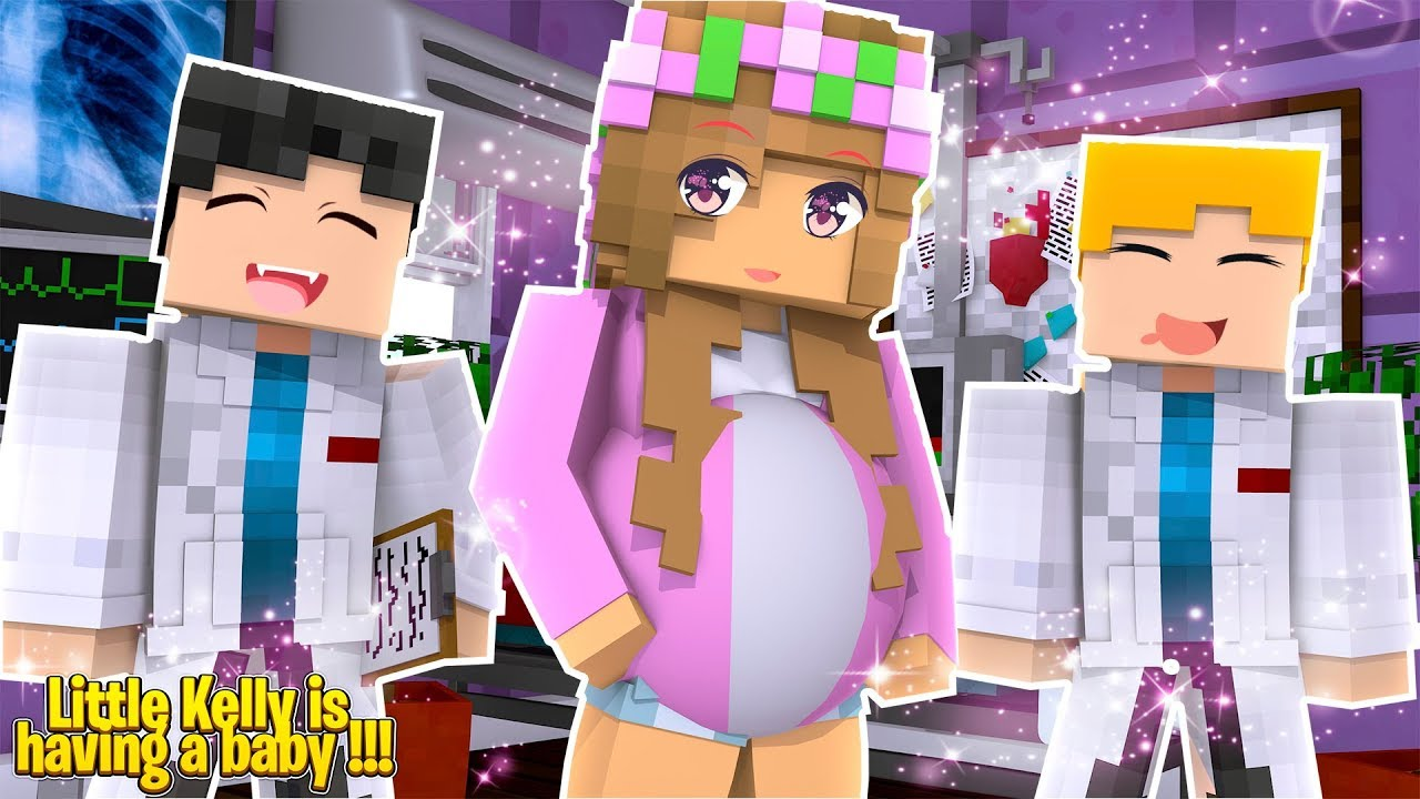 LITTLE KELLY IS HAVING A BABY AGAIN! BABY ELLIES NEW SISTER!  Minecraft  Little Kelly