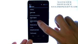 Motorola Droid Razr M - How Do I Change Text Message Ringtone