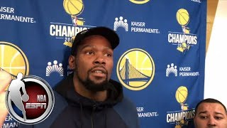 Kevin Durant says he isn't trying to get into altercations | ESPN