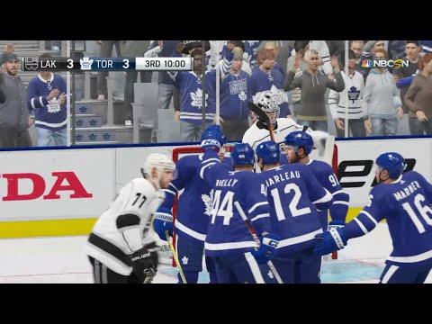 NHL 19 - Los Angeles Kings Vs Toronto Maple Leafs Gameplay - NHL Season Match Oct 15, 2018