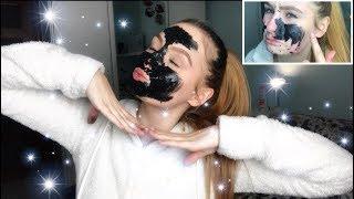 ZKOUŠÍM!!💪🏼Výroba ČERNÉ MASKY na obličej!🖤#blackmask|Vali Herianová