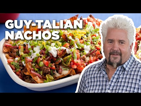 "Guy Fieri Makes His ""GUY-Talian"" Nachos | Food Network"