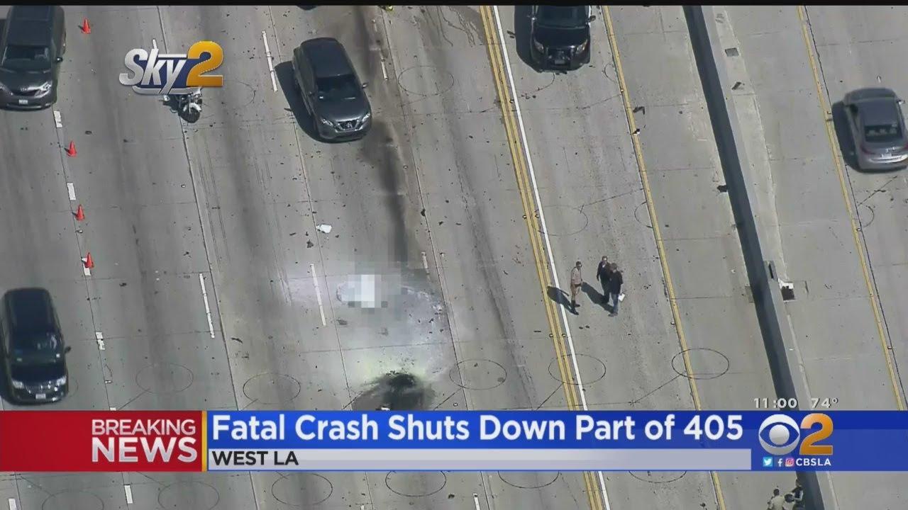 Motorcyclist Killed In Crash On 405 Freeway In West LA