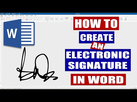 How To Create An Electronic Signature In Word | Microsoft Word Tutorials (EASY)