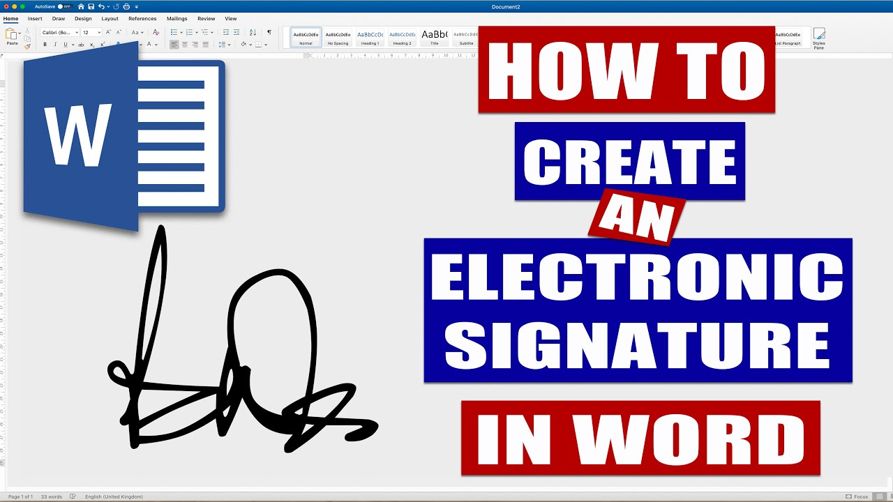 How To Create An Electronic Signature In Word Microsoft Word