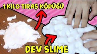1 Kilo Tıraş Köpüğünden Dev Slime | Slaym ile Masa Temizleme Challenge! Bidünya Oyuncak 🦄