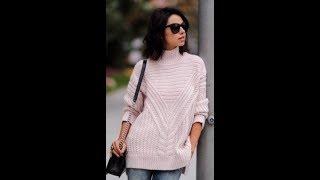 Узор для Женского Пуловера Спицами - образцы моделей - 2019 / Pattern For Women's Pullover Knitting